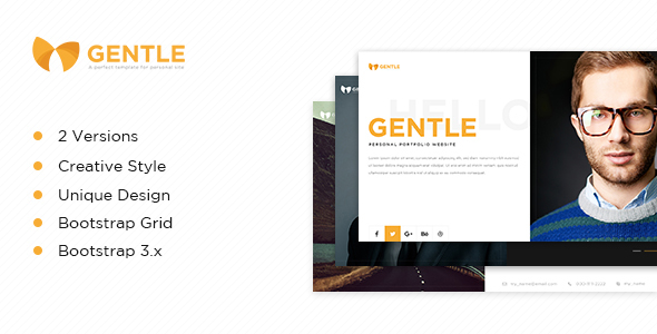Gentle – vCard HTML5 Template