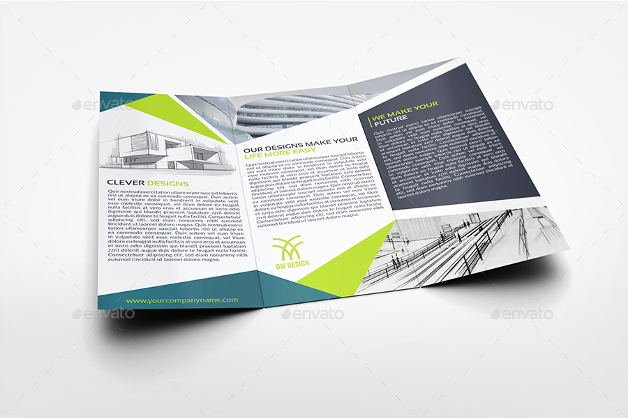 Architectural Design Tri-Fold Brochure Template By Owpictures