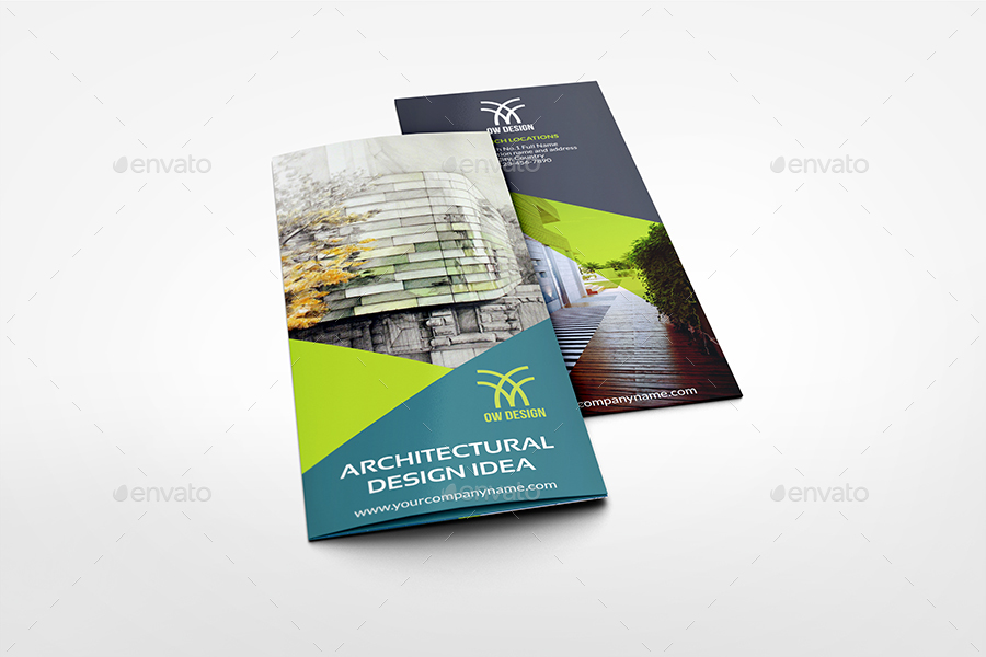 architectural design tri fold brochure template by owpictures