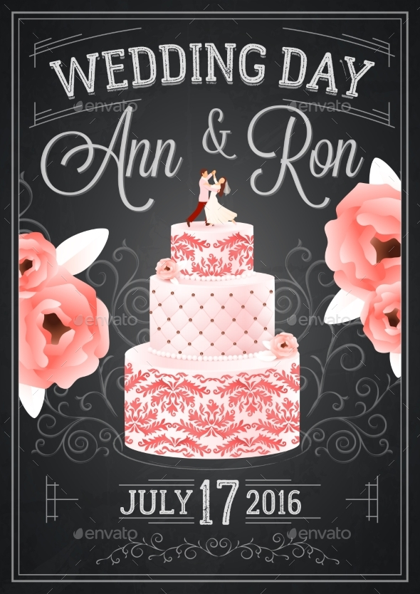 Wedding Chalkboard Poster - Weddings Seasons/Holidays