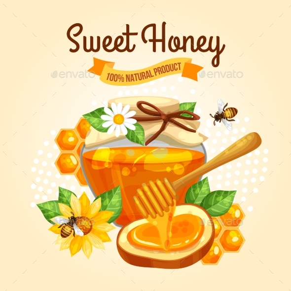 Sweet Honey Poster - Food Objects