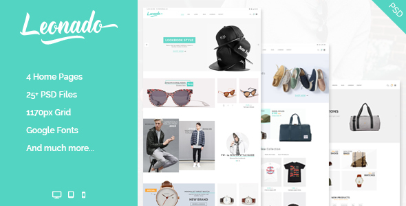 Leonado - Multipurpose eCommerce PSD Template - Shopping Retail