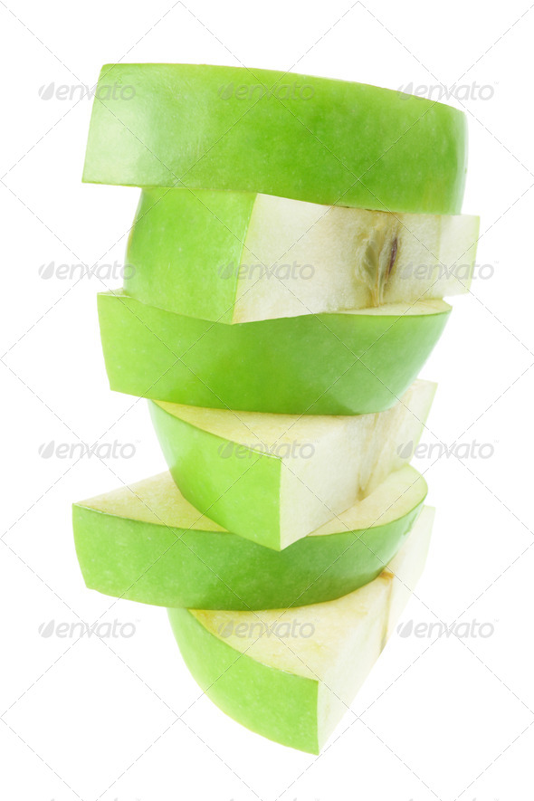 Slices of Apple - Stock Photo - Images