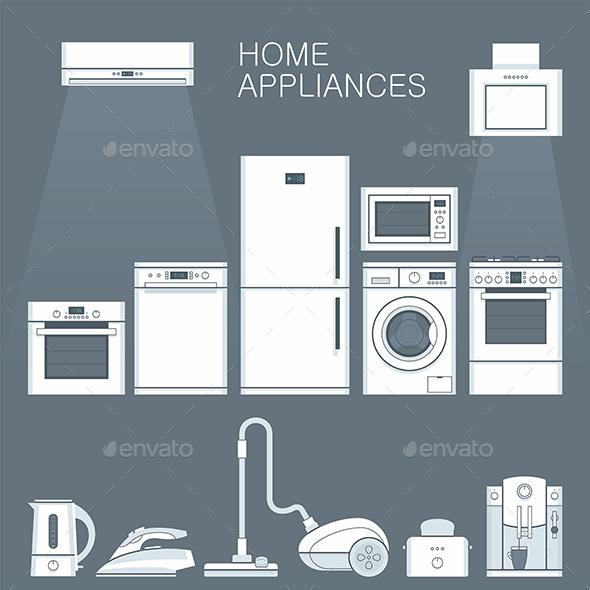 Home Appliances  - Vectors
