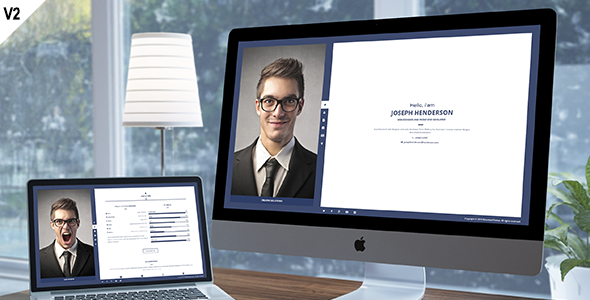 Henderson - Responsive vCard Template - Virtual Business Card Personal