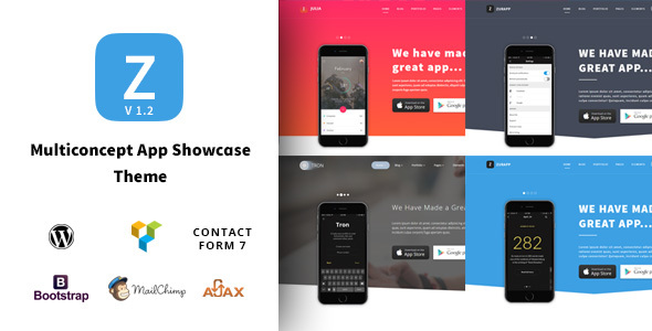 ZurApp – Multipurpose App & SaaS Showcase WordPress Theme