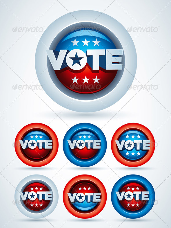 Vote Badge Collection - Miscellaneous Vectors