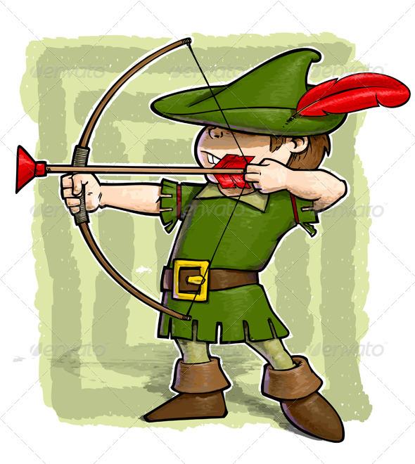 Robin Hood Cartoon Characters : Little robin hood by gnazlis graphicriver
