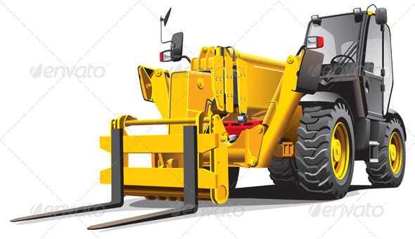 Telescopic Loader - Objects Vectors