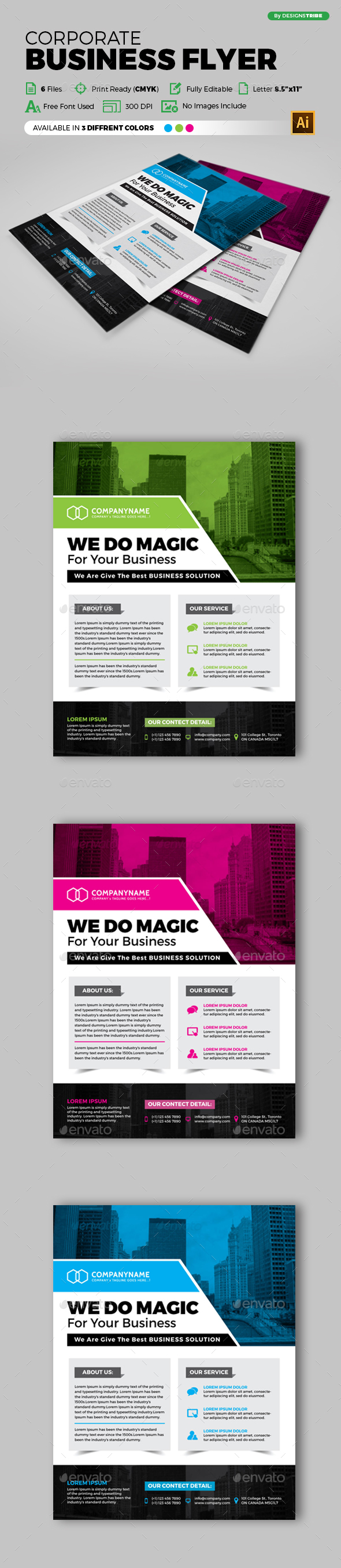 Flyer – Multipurpose 151 - Flyers Print Templates
