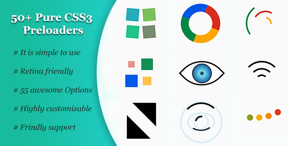 50+ Pure CSS3 Preloaders for download