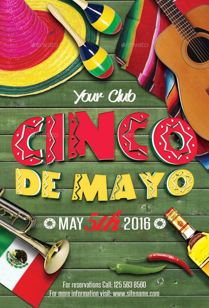 Cinco De Mayo Party Flyer by oloreon | GraphicRiver