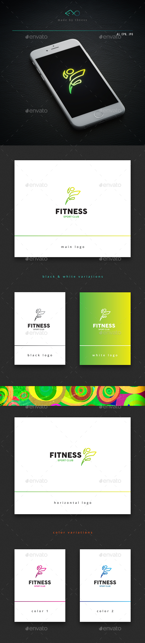Fitness - Letters Logo Templates