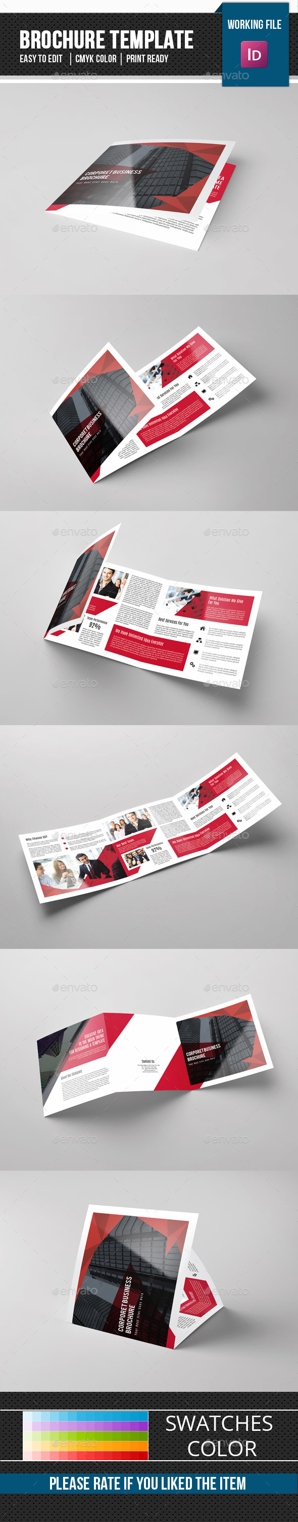 Corporate Square Trifold Brochure-V85 - Corporate Brochures