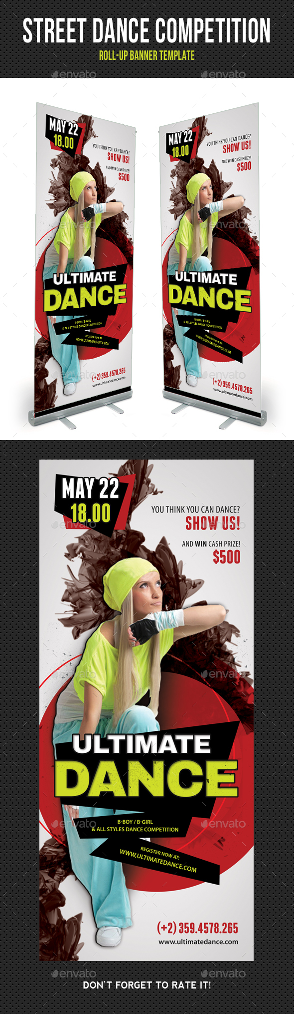 Street Dance Competition Banner 02 - Signage Print Templates