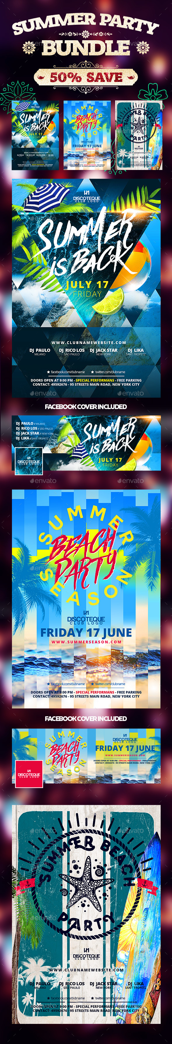 Summer Flyers - Clubs & Parties Events