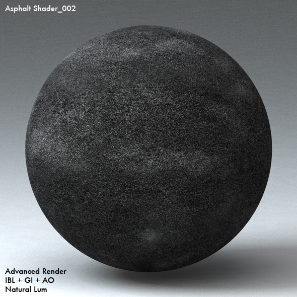 Asphalt Shader_002 - 3DOcean Item for Sale