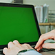 Businessman Typing on the Laptop with Green Screen  - VideoHive Item for Sale