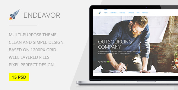 Endeavor — Multipurpose IT/Digital Company PSD Template
