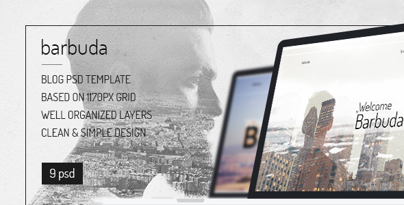 Barbuda — Multipurpose Simple Personal Blog PSD Template - Personal PSD Templates
