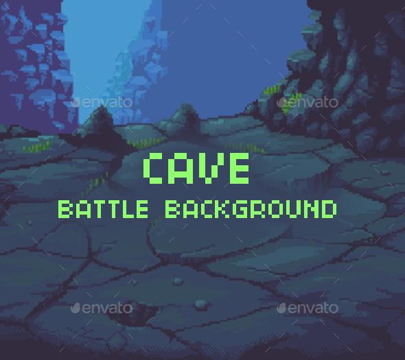 Cave Battle Background - Backgrounds Game Assets