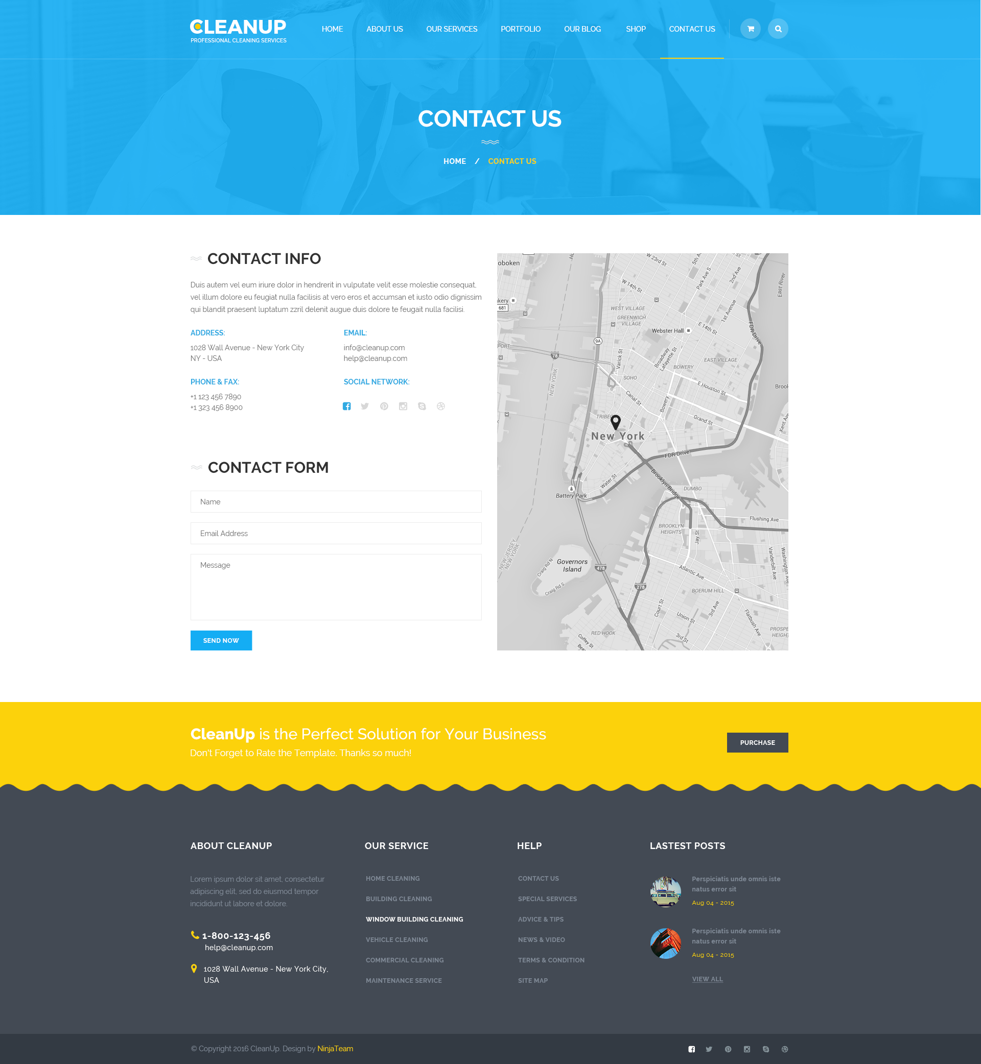 cleanup professional cleaning services psd template by ninjateam