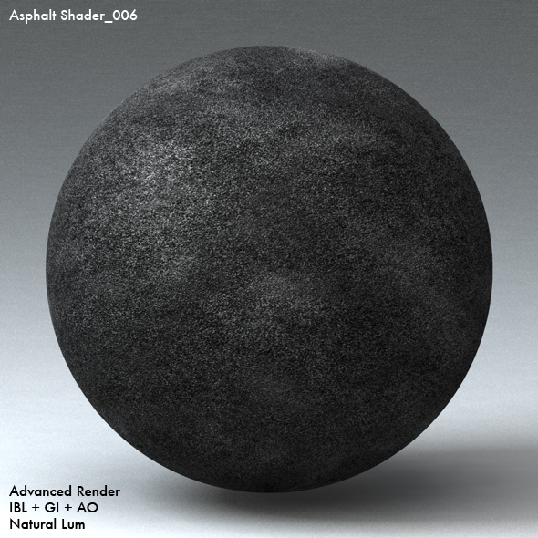 Asphalt Shader_006 - 3DOcean Item for Sale