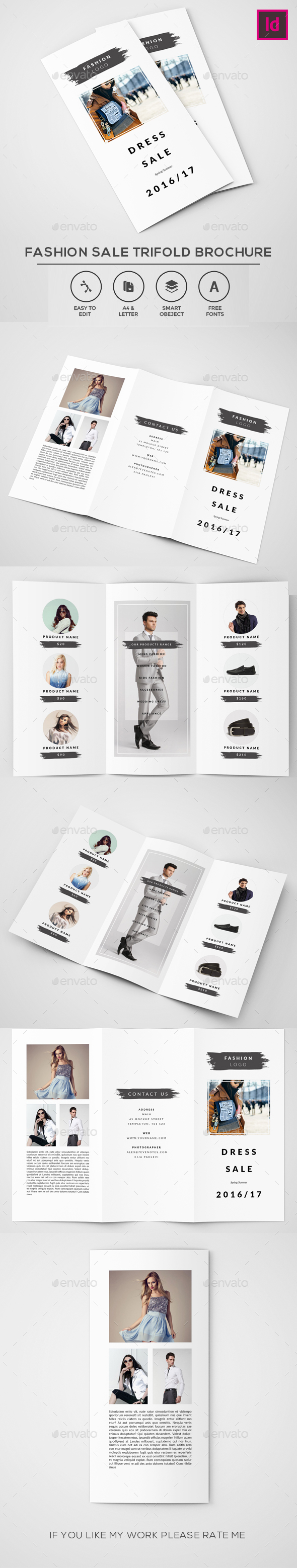 Fashion Sale Trifold Brochure - Brochures Print Templates