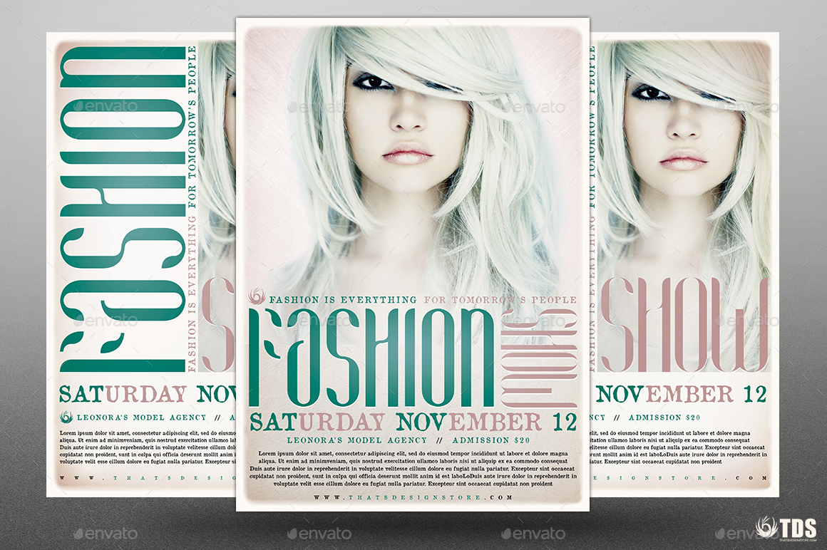 fashion show flyer template v2 by lou606 graphicriver. Black Bedroom Furniture Sets. Home Design Ideas