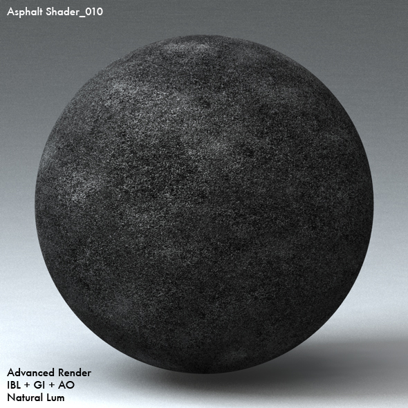 Asphalt Shader_010 - 3DOcean Item for Sale
