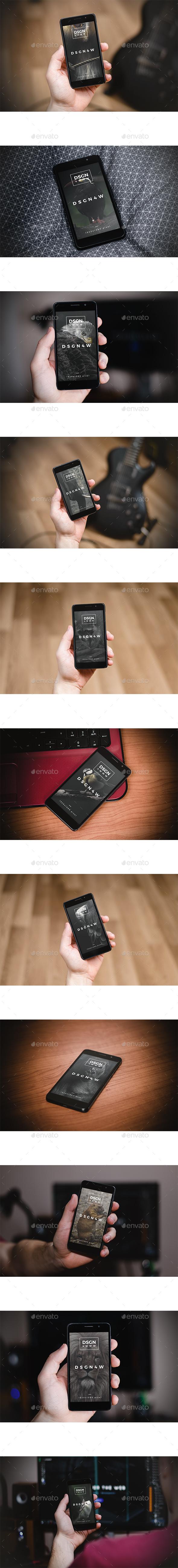 Honor - Smartphone Display Mockup  - Mobile Displays