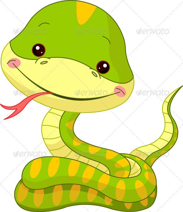 Fun zoo. Snake - Animals Characters