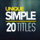 20 Unique Simple Titles - VideoHive Item for Sale