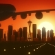 Seattle Skyline Sunrise Landing - VideoHive Item for Sale