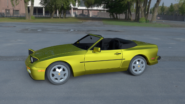 Porsche 944 Cabriolet w interior top down HDRI - 3DOcean Item for Sale