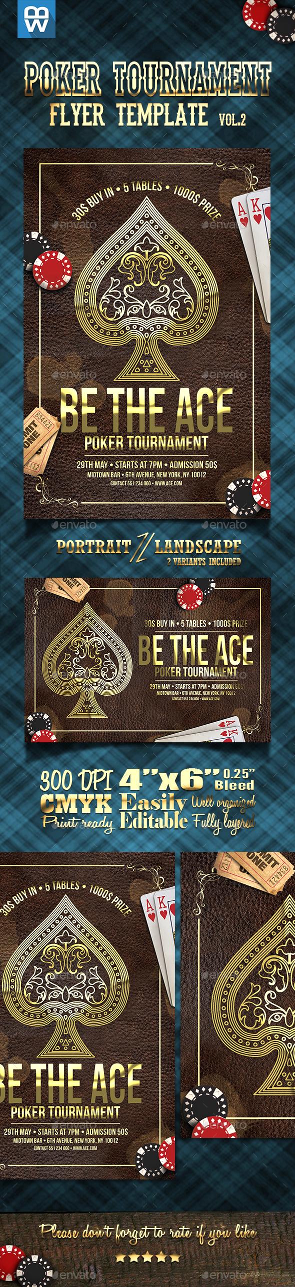 Ace - Poker Tournament Flyer Template Vol.2 - Clubs & Parties Events