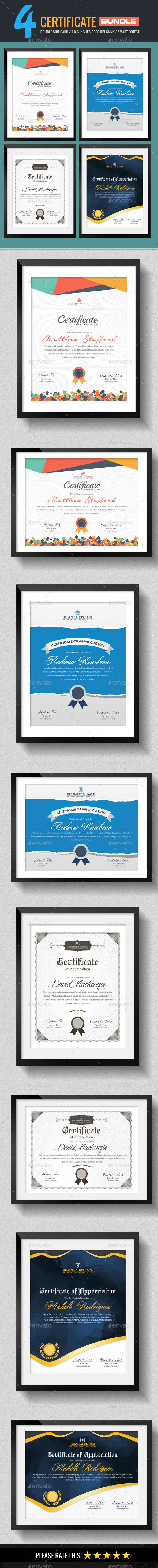 4 In 1 Multipurpose Certificates Bundle - Certificates Stationery