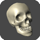 Low Poly Skull for Game