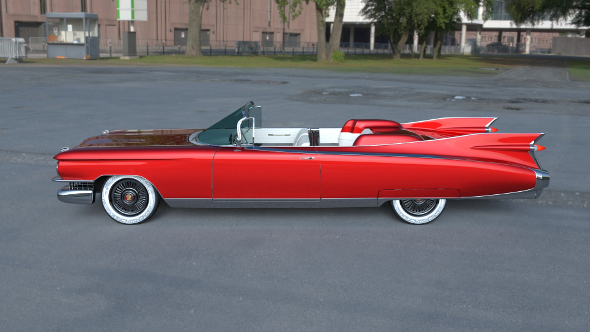 1959 Cadillac Eldorado Biarritz HDRI 3D Model  - 3DOcean Item for Sale