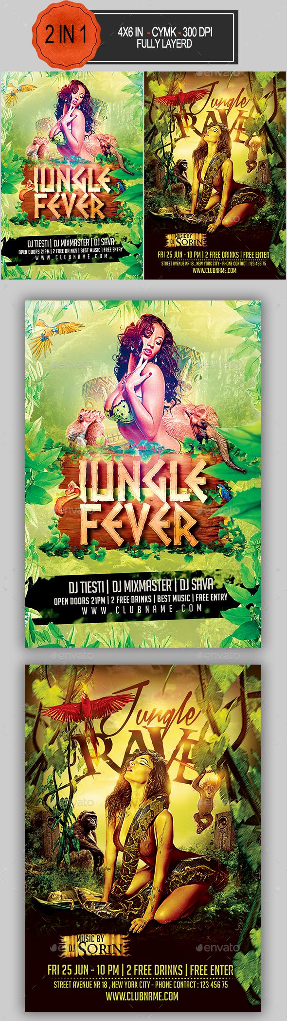 Jungle Party Flyer Bundle - Clubs & Parties Events