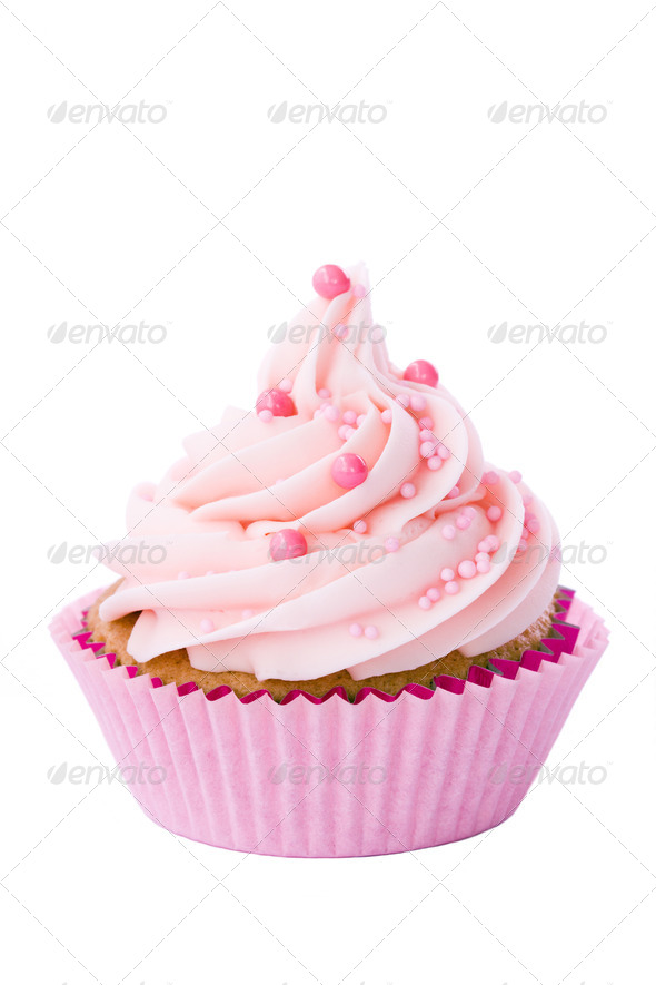 Pink cupcake - Stock Photo - Images