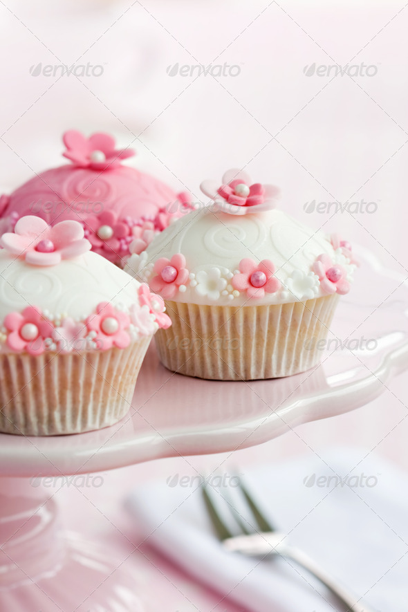 Cupcakes on a cakestand - Stock Photo - Images