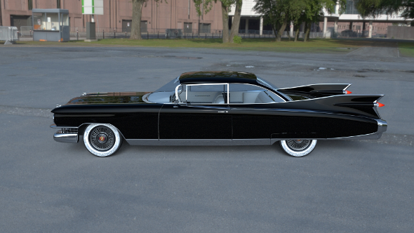 Cadillac Eldorado 1959 coupe HDRI - 3DOcean Item for Sale