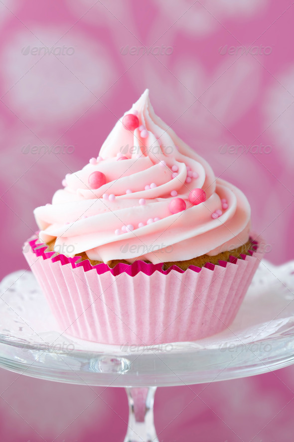 Pink cupcake - Stock Photo - Images