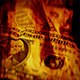 Dollar Bills Rotating In Fire - VideoHive Item for Sale