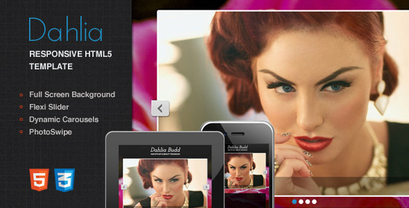Dahlia - Responsive Html5 One Page Template - Health & Beauty Retail