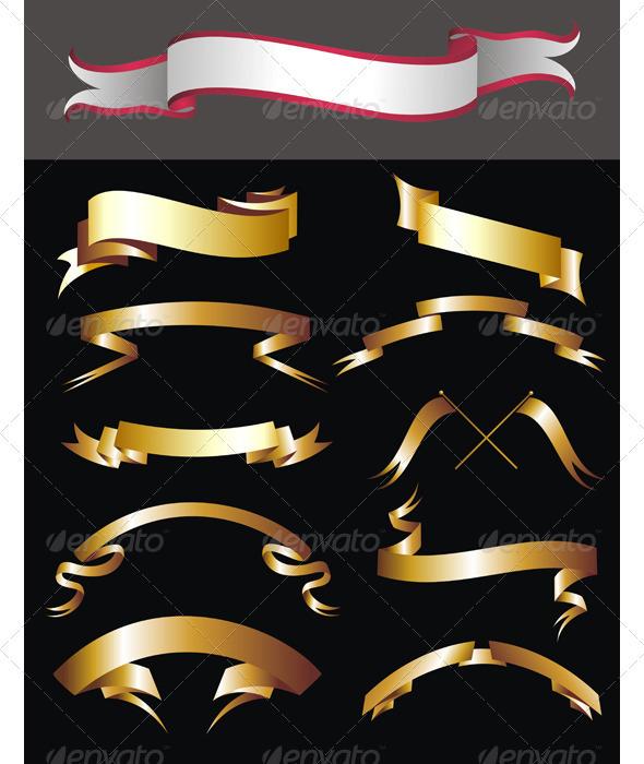 Ribbons set - Decorative Vectors