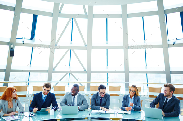 Beginning of conference - Stock Photo - Images