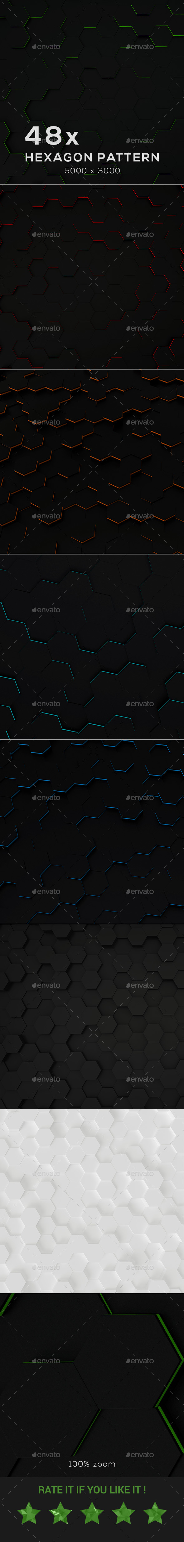 48 x Hexagon Backgrounds - Backgrounds Graphics