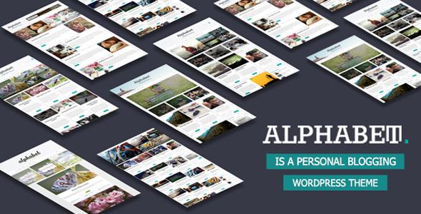 Alphabet - Multipurpose WordPress Blog Theme